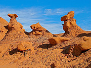 Goblin Digital Art - Animal Goblins on Entrada Trail in Goblin Valley State Park by Ruth Hager
