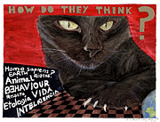 Concept Mixed Media Originals - Animal Intelligence by Zaida Ortega