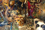 Venice Masks Prints - Animal Masks from Venice Print by Mindy Newman