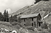 Rural Scenes Art Art - Animas Forks in BlackandWhite by Melany Sarafis