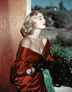 Satin Dress Framed Prints - Anita Ekberg, 1950s Framed Print by Everett