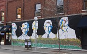 Woody Allen Prints - Ann Arbor Authors Mural Print by Jim Vansant