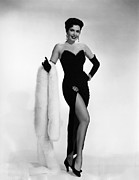 Fur Stole Prints - Ann Miller, Ca. 1950s Print by Everett