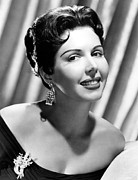 Diamond Earrings Framed Prints - Ann Miller, Mgm Portrait, Ca. 1955 Framed Print by Everett