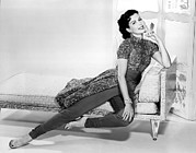 Chaise-lounge Prints - Ann Miller, Portrait, Circa 1956 Print by Everett