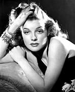 Bare Shoulder Metal Prints - Ann Sheridan, Portrait Used Metal Print by Everett