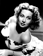 Bare Shoulder Metal Prints - Ann Sothern, Portrait Promoting Metal Print by Everett
