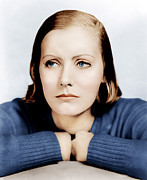 Thin Eyebrows Posters - Anna Christie, Greta Garbo, Portrait Poster by Everett