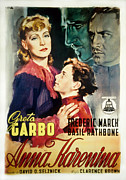 Garbo Framed Prints - Anna Karenina, Poster Art, Greta Garbo Framed Print by Everett