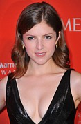 Gold Earrings Posters - Anna Kendrick At Arrivals For Time 100 Poster by Everett