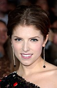 Drop Earrings Metal Prints - Anna Kendrick Wearing Neil Lane Metal Print by Everett