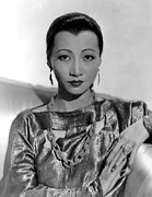 Chain Necklace Framed Prints - Anna May Wong, Ca. 1937 Framed Print by Everett