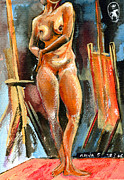 Ion Vincent Danu Art - Anna Nude by Ion vincent DAnu