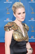 Shoulder Pads Posters - Anna Paquin Wearing An Alexander Poster by Everett