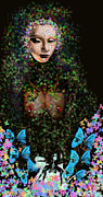 Digital Collage Photo Posters - Anna Perenna Poster by Doug  Duffey