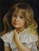 Portraits Paintings - Annabelle by Jan Way