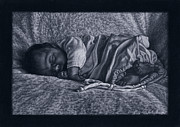 Black Artist Pastels Prints - Annabelle Print by Tyler Smith