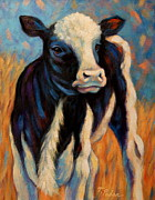 Cow Metal Prints - Annabelles Makeover Metal Print by Theresa Paden