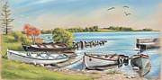 Annadown Pier Print by Vanda Luddy