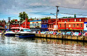 Annapolis Maryland Framed Prints - Annapolis City Docks Framed Print by Debbi Granruth