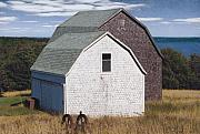 Barn Drawings Prints - Annapolis Royal Barns Print by Brent Ander