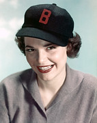 Baseball Cap Prints - Anne Bancroft, 1950s Portrait Print by Everett