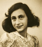 Roberto Prusso Framed Prints - Anne Frank Framed Print by Reproduction