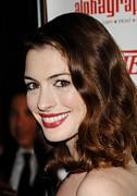 Red Carpet Prints - Anne Hathaway At Arrivals For 55th Print by Everett