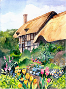 Stratford Paintings - Anne Hathaway Cottage by Jean White