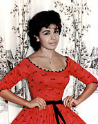 Red Dress Posters - Annette Funicello, 1950s Poster by Everett