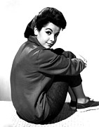 Looking Over Shoulder Posters - Annette Funicello, Portrait Poster by Everett