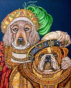 Boleyn Prints - Annie and Hank Print by Sherry Dole