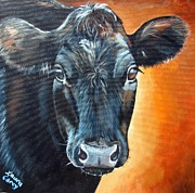 Calf Paintings - Annie Angus by Laura Carey
