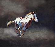Paint Horse Mixed Media Posters - Annie Bonanza Poster by Barbara Hymer