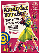1950 Movies Posters - Annie Get Your Gun, Betty Hutton, 1950 Poster by Everett