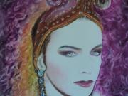 Musician Pastels - Annie Lennox of the Eurythmics Whiter Shade of Pale by Carla Carson