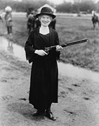 Shows Prints - Annie Oakley 1860-1926, In 1922 Print by Everett