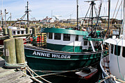 Docked Boat Framed Prints - Annie Wilder Framed Print by Extrospection Art