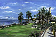 Oceanside Painting Prints - Annies Walk Print by Lisa Reinhardt
