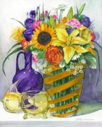 Anniversary Bouquet Print by Jane Loveall