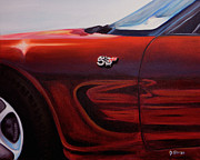 Fast Paintings - Anniversary Edition Corvette by Dean Glorso