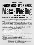Federation Prints - Announcement For A 1937 Farmers Mass Print by Everett