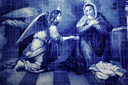 Archangel Gabriel Prints - Annunciation Print by Gaspar Avila