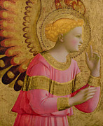 Annunciation Painting Prints - Annunciatory Angel Print by Fra Angelico