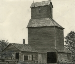 Barns Drawings Prints - Anoka Elevator Print by Bryan Baumeister