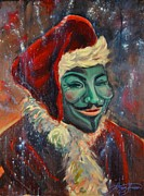 Protest Painting Metal Prints - Anonymous Christmas Metal Print by Solveig Swenson