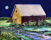 Old Barn Paintings - Another Barn Painting by Diane Ursin
