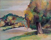 Photos Pastels - Another Bridge in Fairmount Park by Beverly Trivane