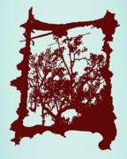 Creepy Digital Art Posters - Another Creepy Tree Poster by Kristin Sharpe