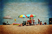 Another Day At The Beach Print by Mary Machare